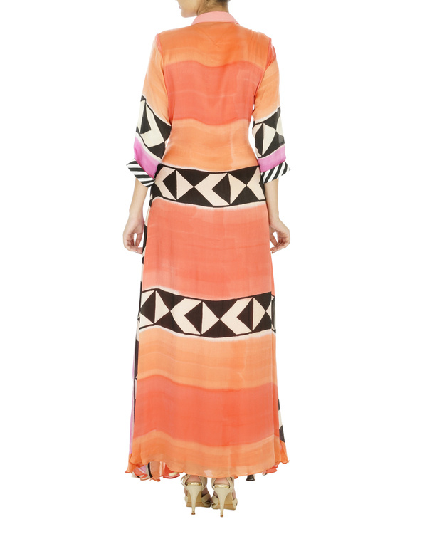 Abstract block printed dress 1
