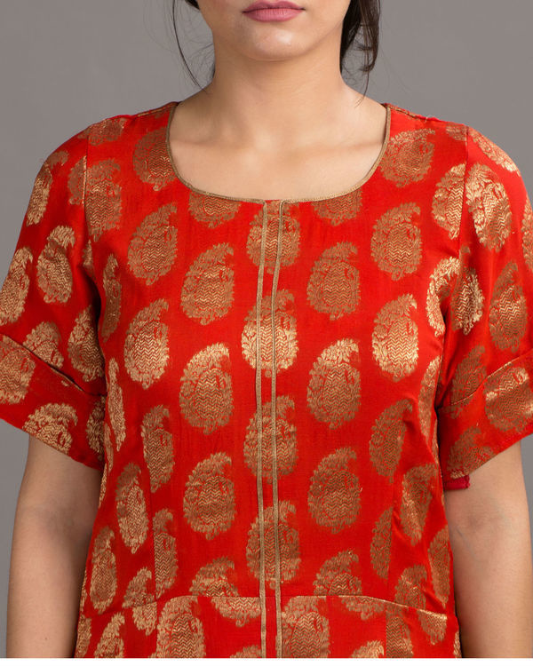 Royal red dress 1