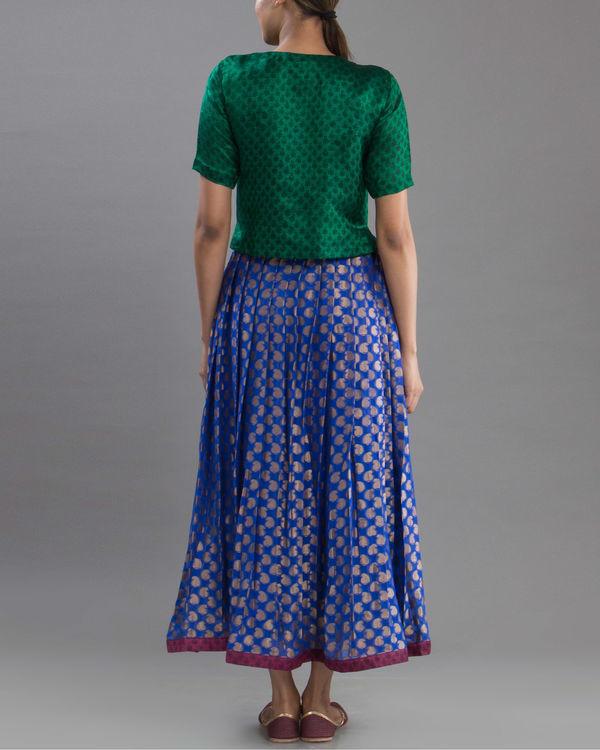 Royal blue brocade skirt 2