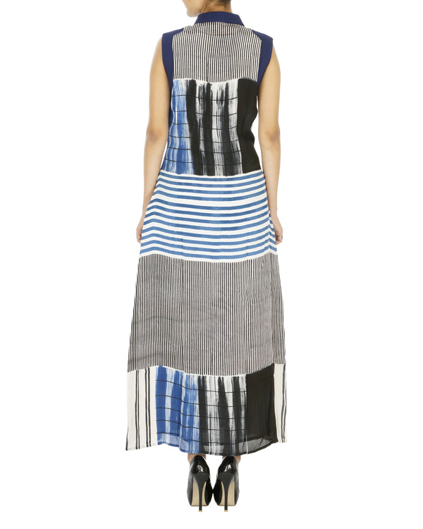 Indigo striped dress 1