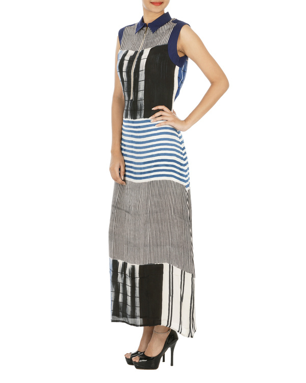 Indigo striped dress 2
