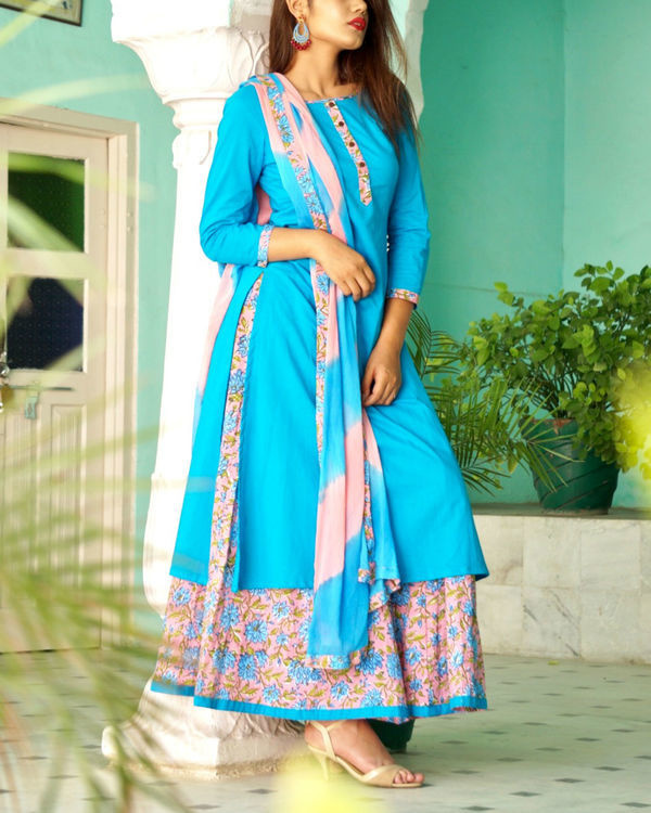 Turquoise sharara set 2