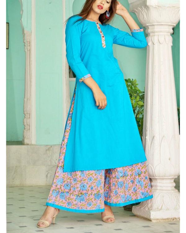 Turquoise sharara set 1