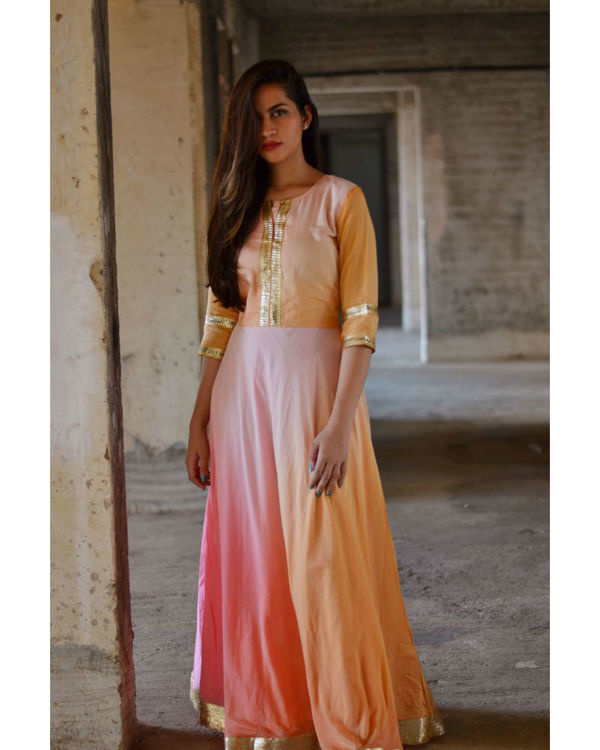 Shades of pink maxi dress 1