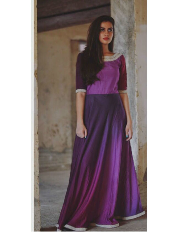 Shades of purple maxi dress 1
