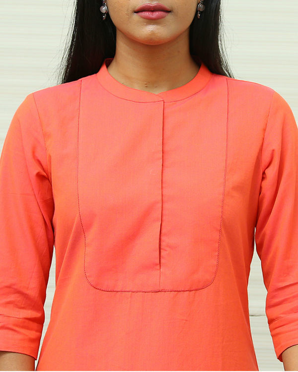 Peach cotton kurta set 1