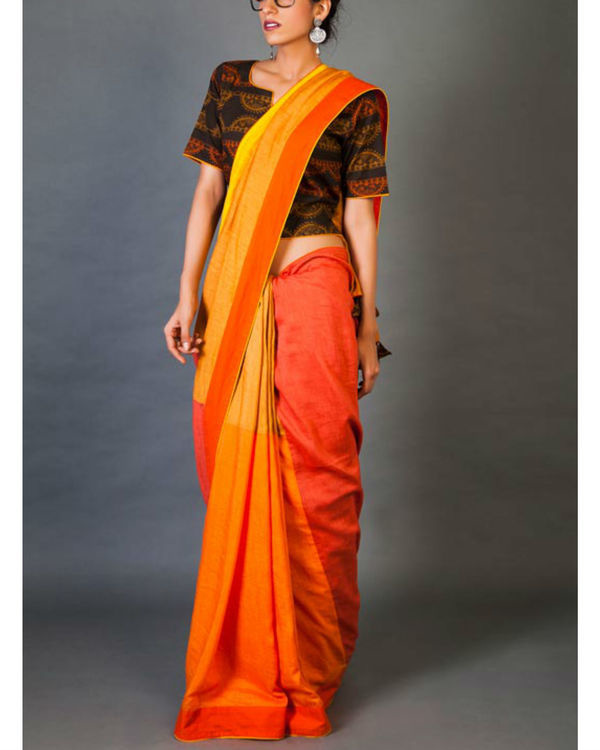 Shades of yellow sari 4