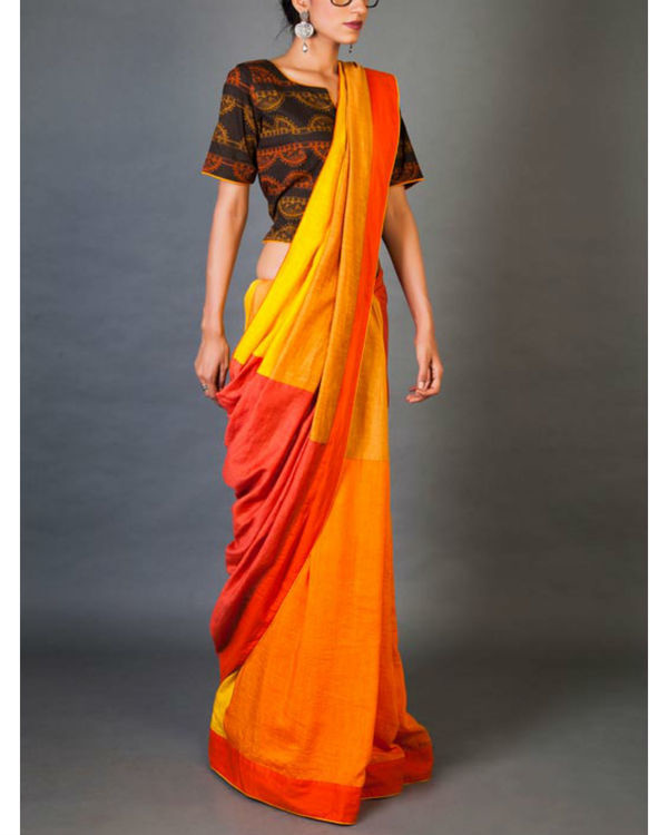 Shades of yellow sari 3