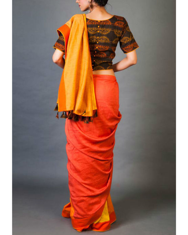 Shades of yellow sari 2