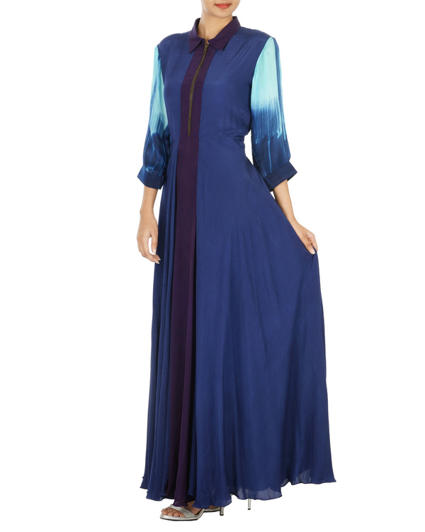 Royal blue long dress 2