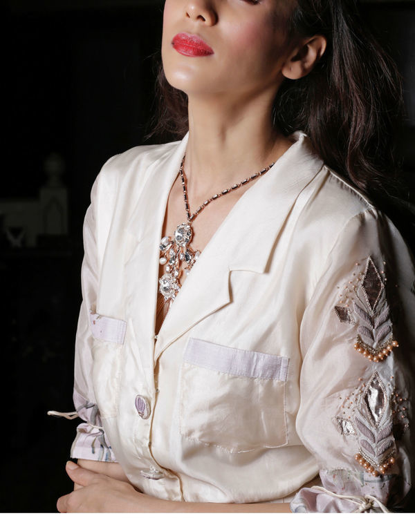 Ivory shirt dress 1