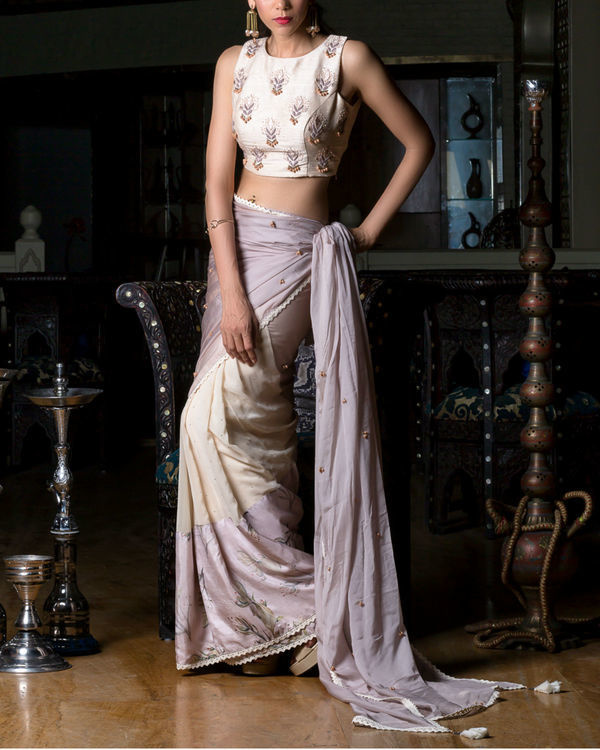 Half sari with embroidered blouse 2