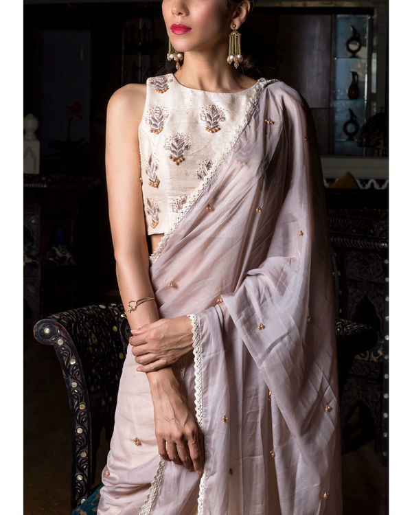 Half sari with embroidered blouse 1