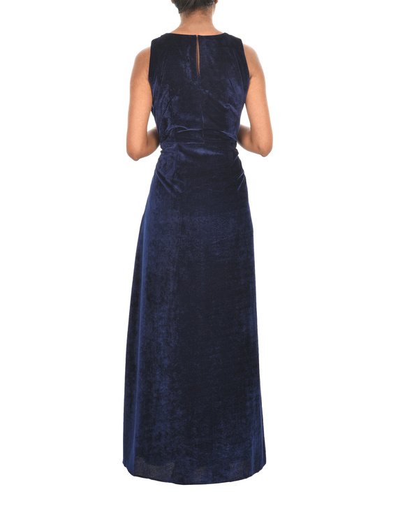 Royal blue velvet cape 1