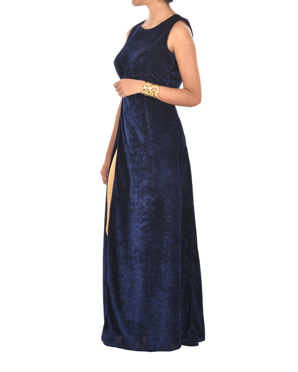 Royal blue velvet cape 2
