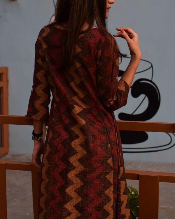 Maroon and brown shades dress 3