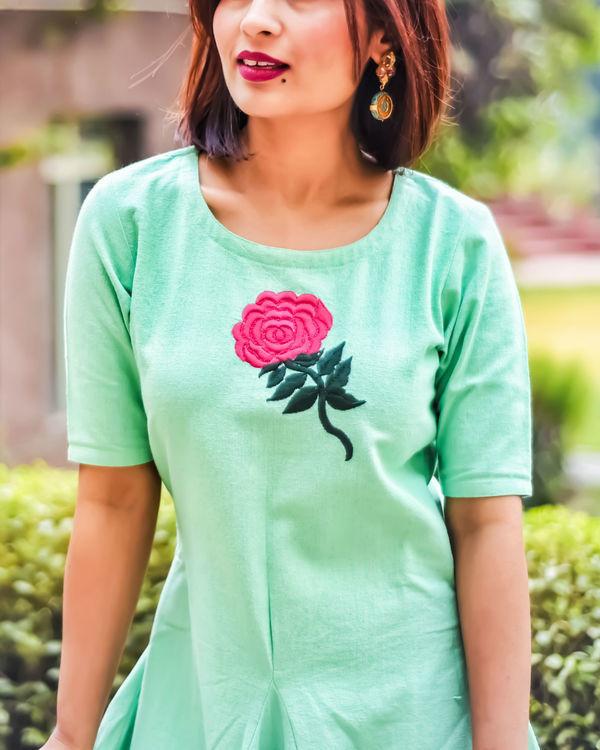 Mint floral cowl maxi 2