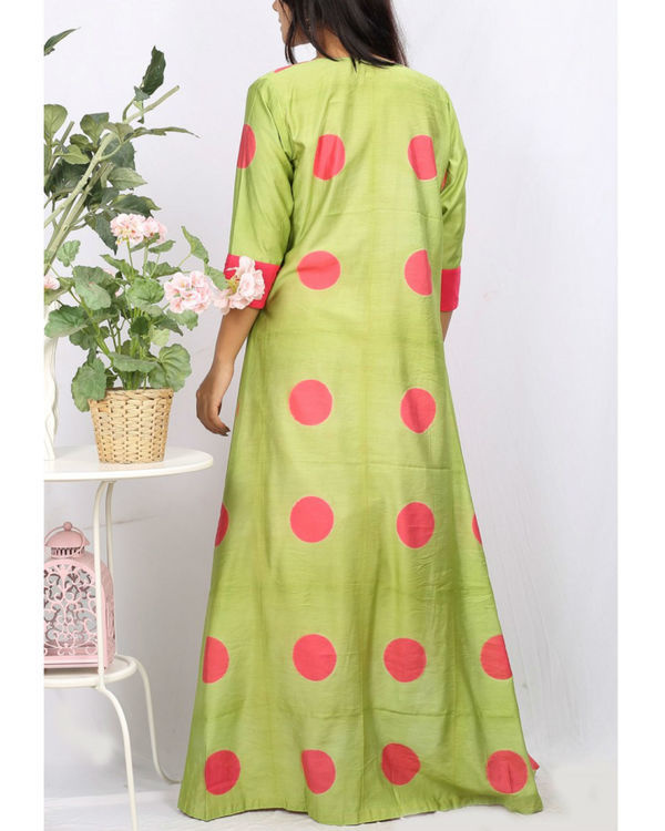 Pink & green cape set 2