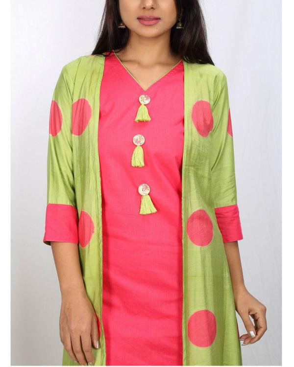 Pink & green cape set 1