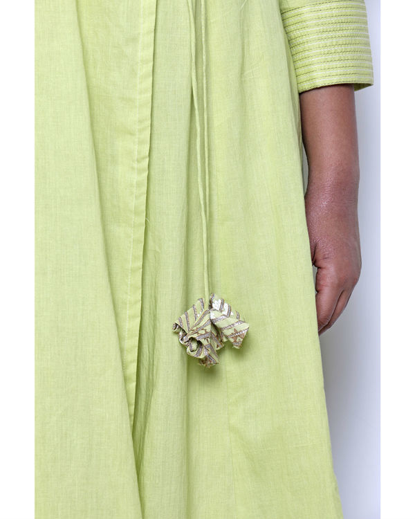 Pista green angrakha & pant set 3