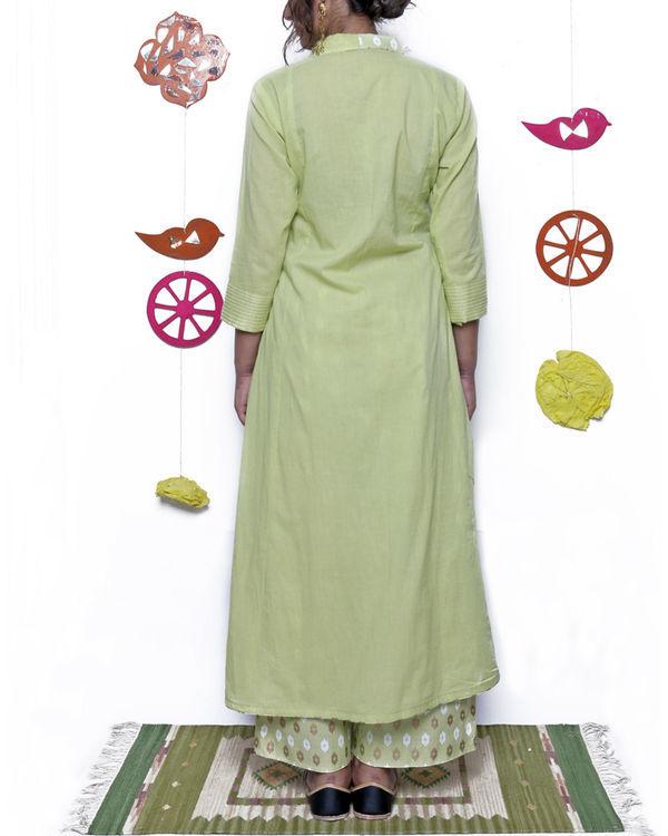 Pista green angrakha & pant set 1