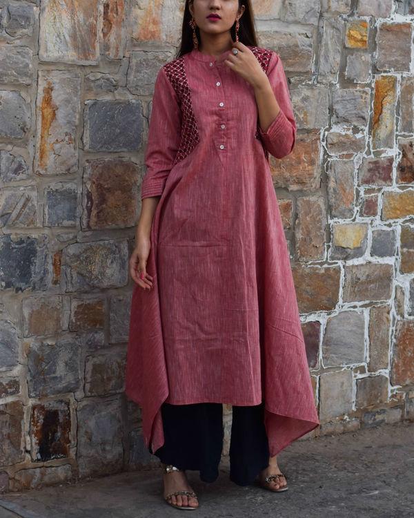 Pink boho tunic 1