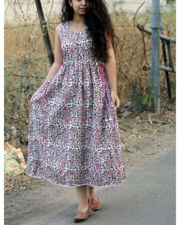 Floral ankle length maxi dress 2