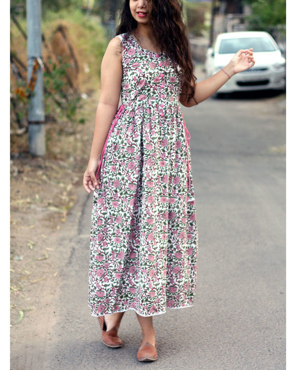 Floral ankle length maxi dress 1