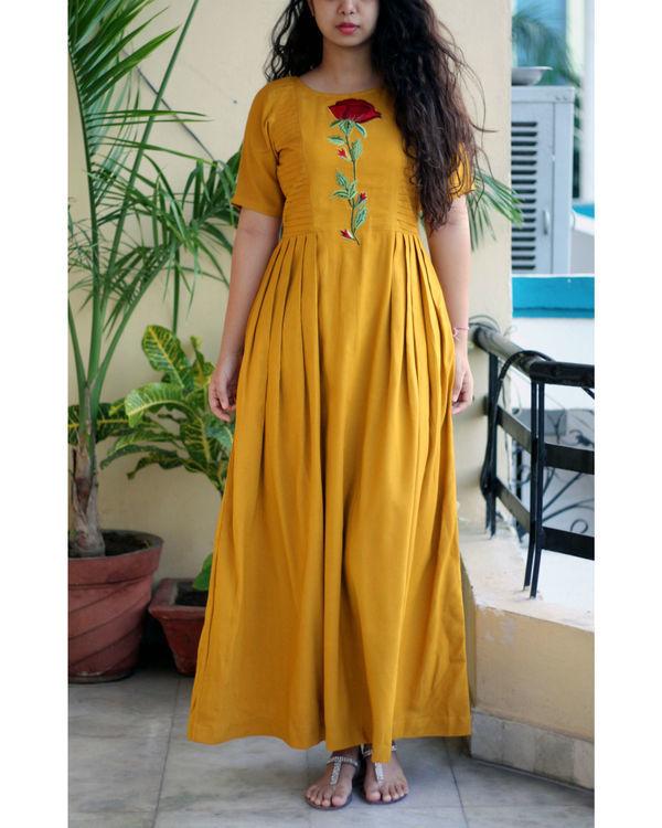 Mustard maxi dress 2