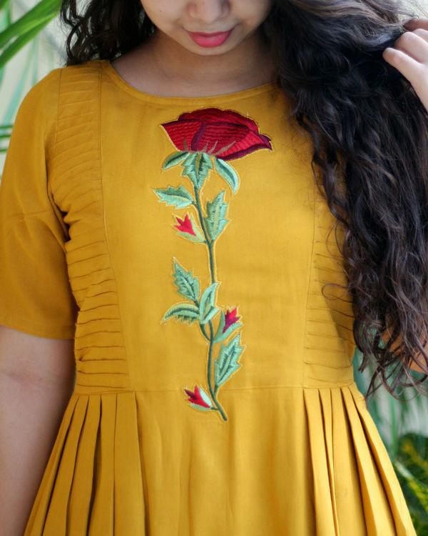 Mustard maxi dress 1