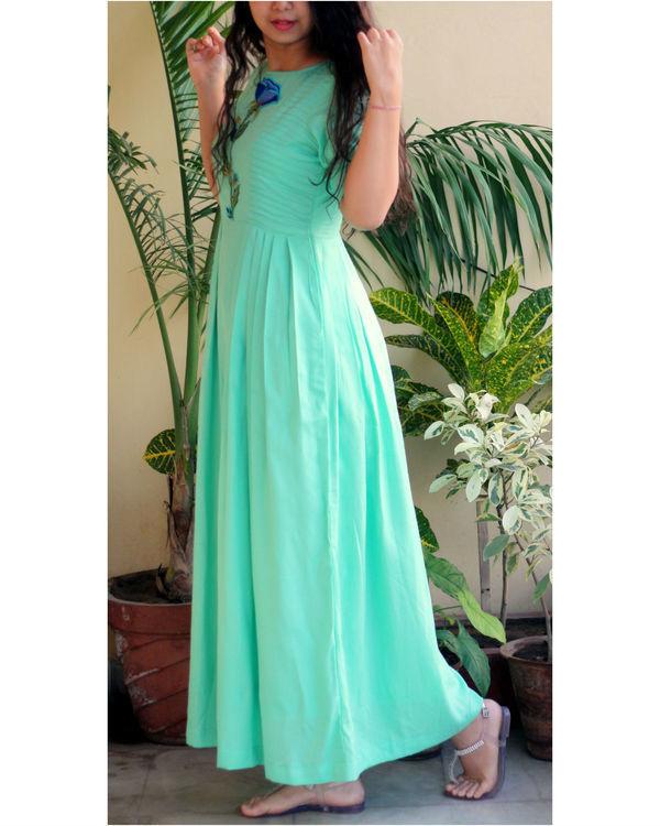 Aqua green maxi dress 2
