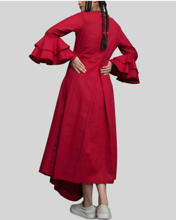 Rust cowl and drape dress 2