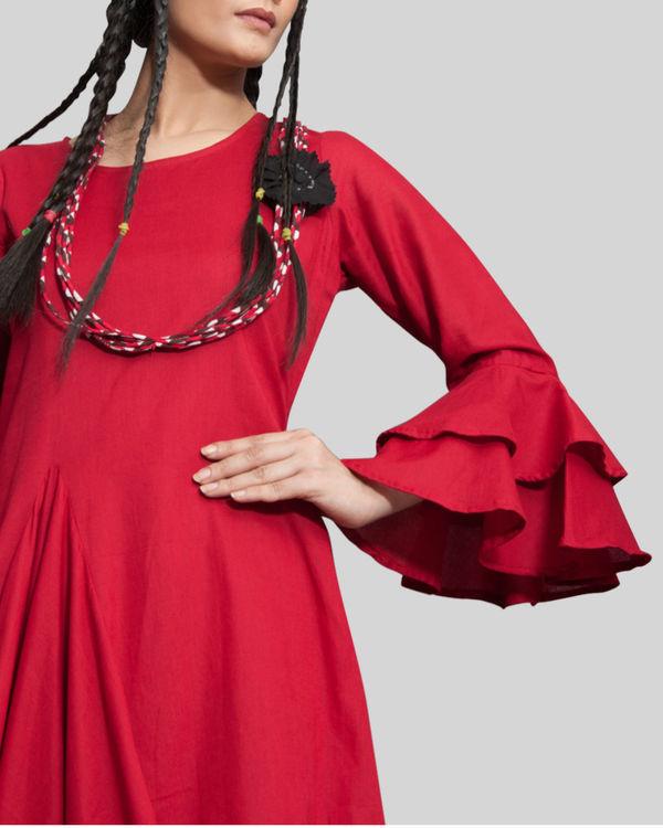 Rust cowl and drape dress 1