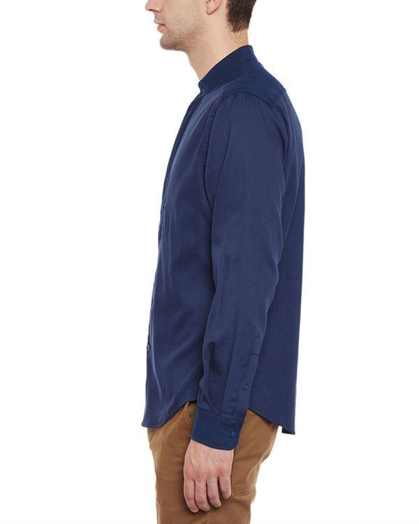 Indigo cotton safe pocket shirt 2