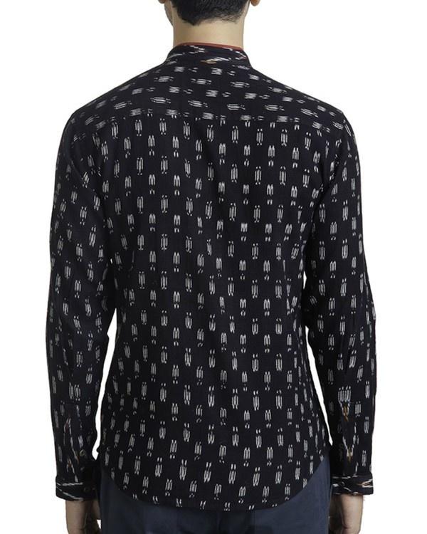 Black ikat safe pocket shirt 1