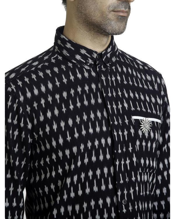 Black ikat button-down shirt 2