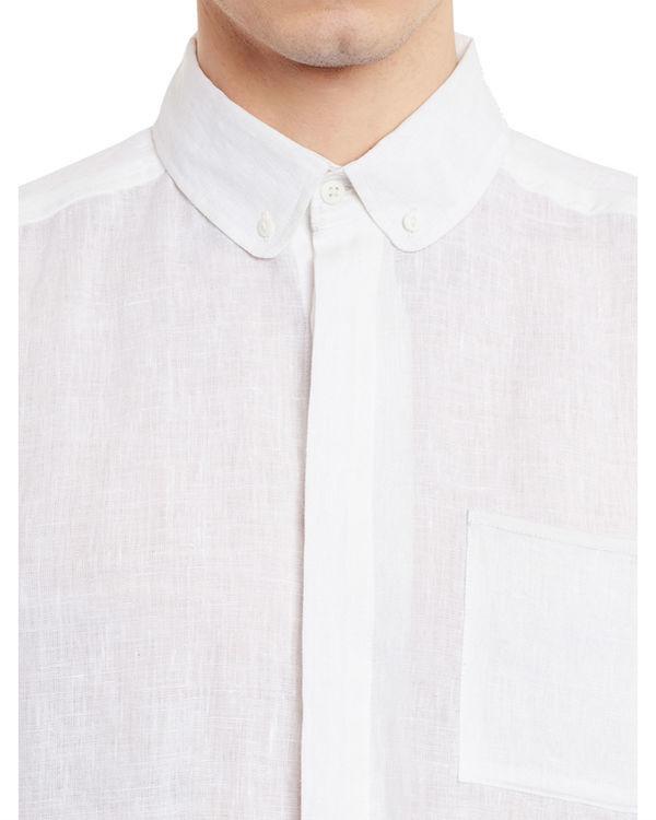 White linen button-down shirt 2