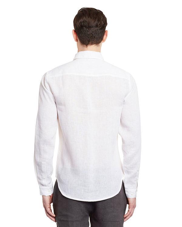 White linen button-down shirt 1