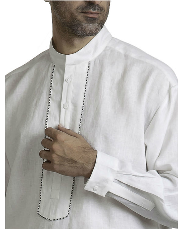 White linen tunic shirt 1