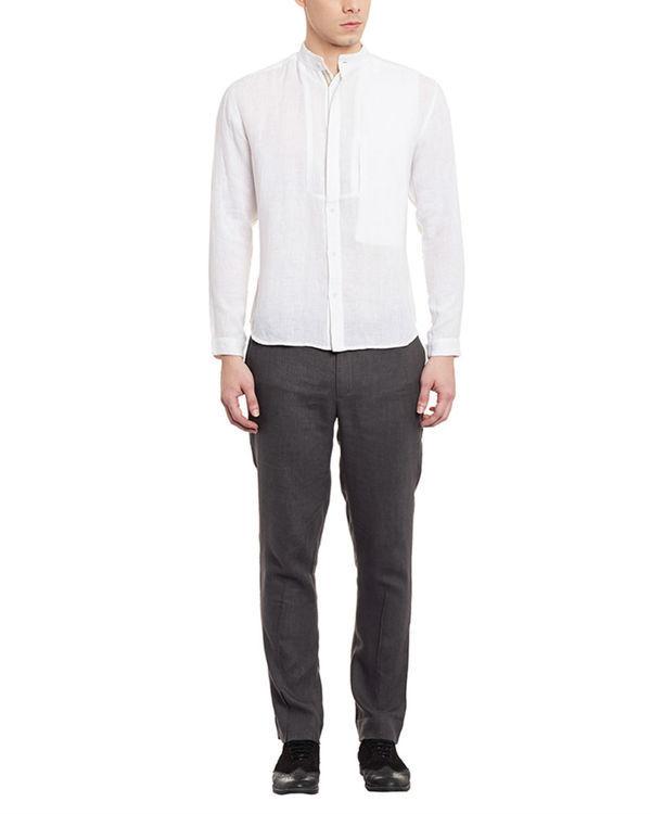 Grey linen trousers 3