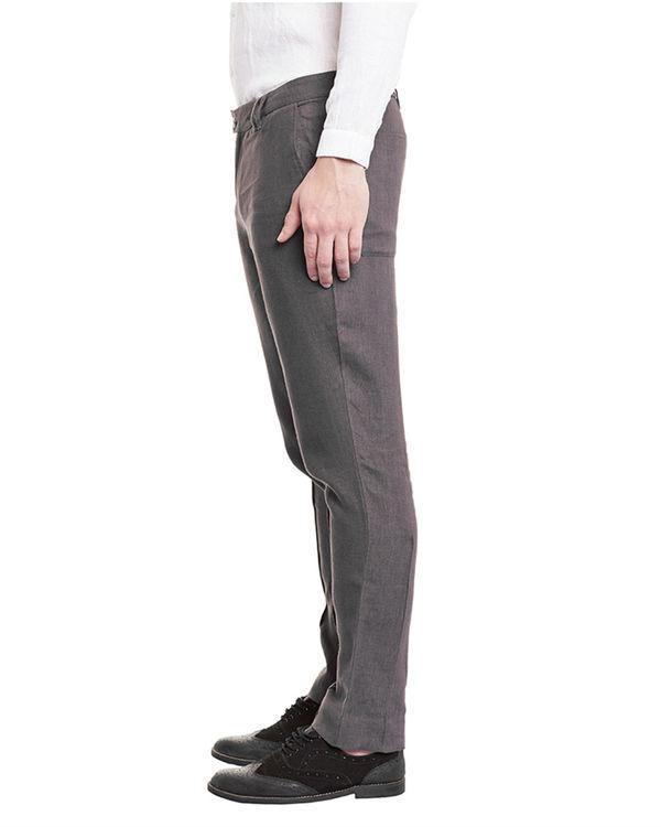 Grey linen trousers 2