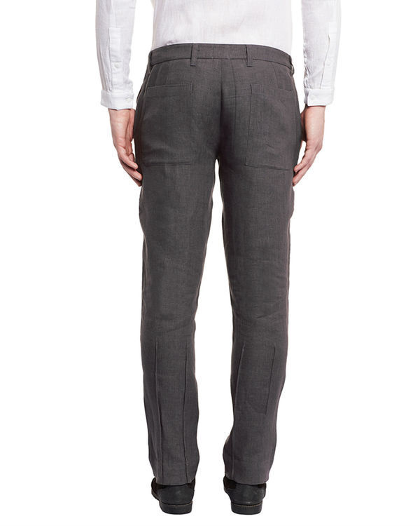 Grey linen trousers 1
