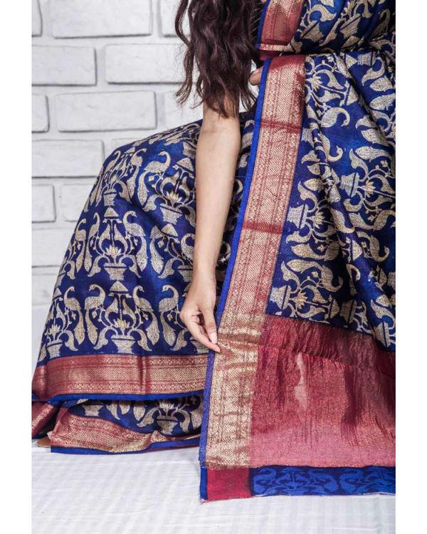 Zaffre drape sari 1