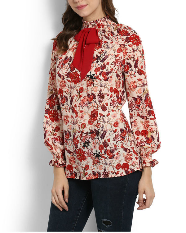 Lokum rose printed top 2