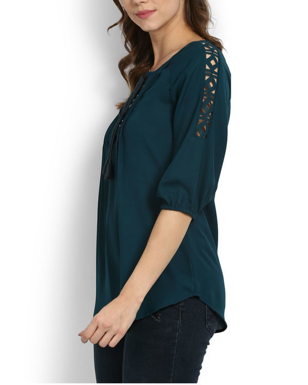 Teal studded top 2