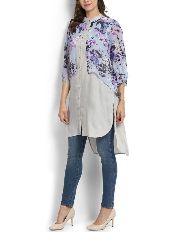 Lilac layered tunic 2
