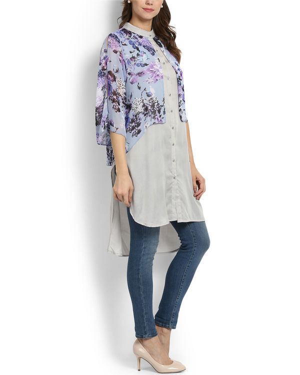 Lilac layered tunic 1