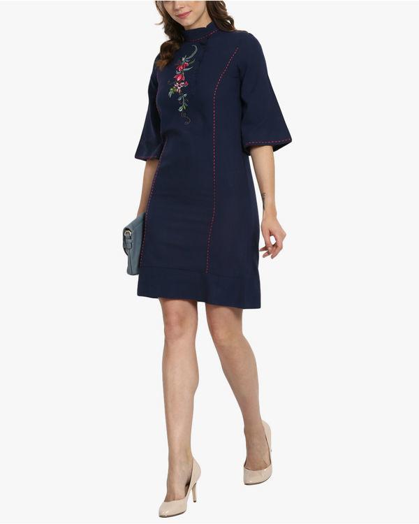 Oriental khadi dress 3