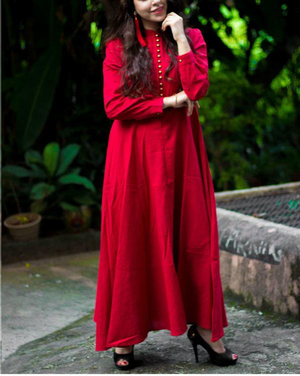 Royal Red Maxi Dress 2