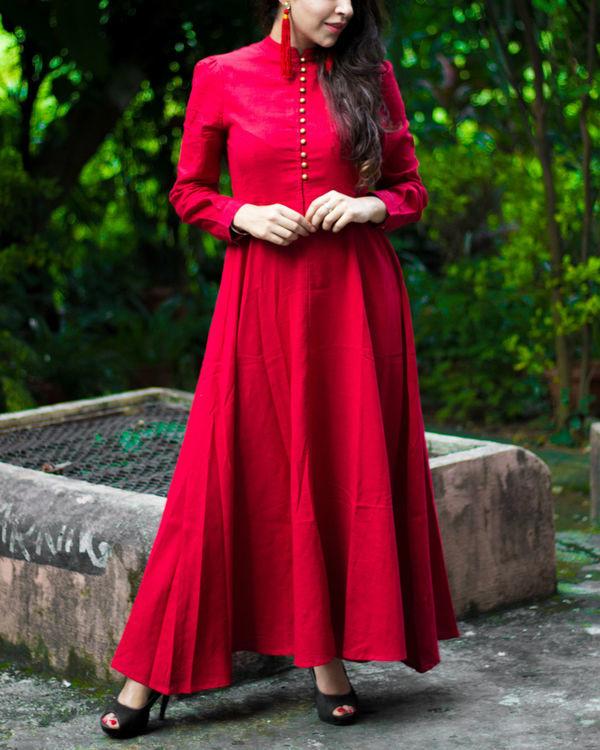 Royal Red Maxi Dress 1